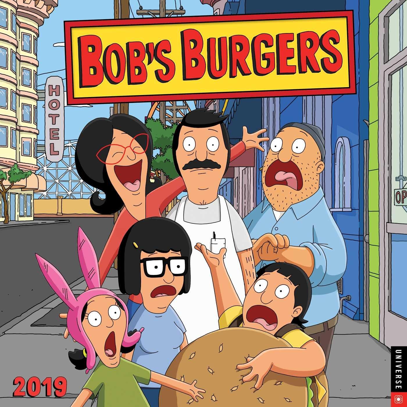 bobs burgers 2019 wall calendar