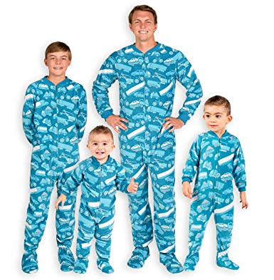 Footed Pajamas Family Matching Automotive Adult Fleece Onesie - Double  XL Wide Blue d703a3bdbd