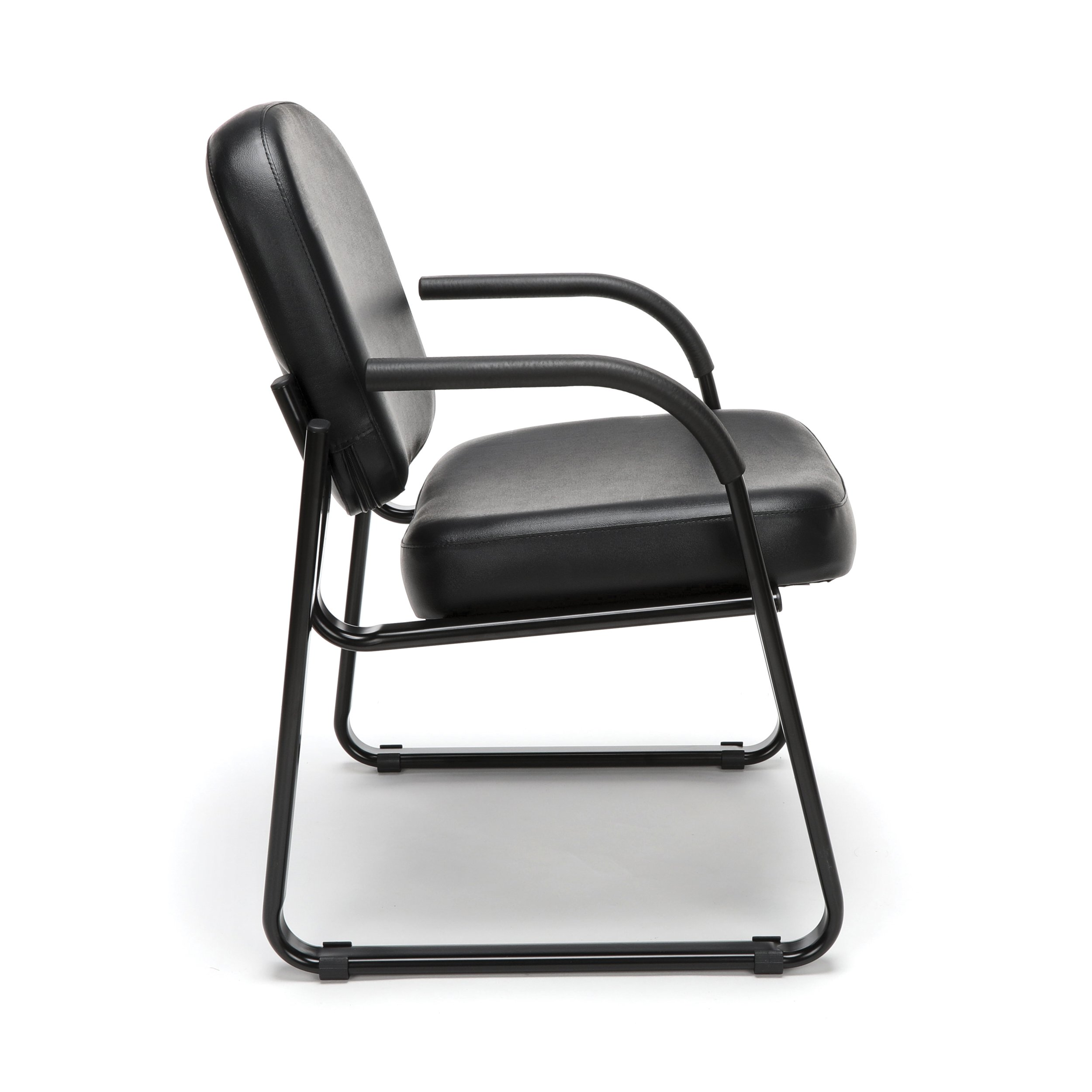 OFM Model 403-VAM Guest and Reception Chair with Arms, Anti-Microbial/Anti-Bacterial Vinyl, Black by OFM (Image #3)