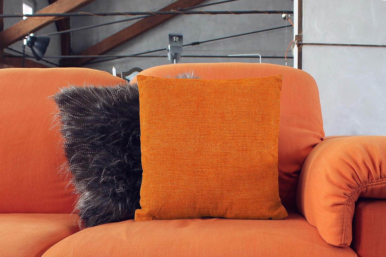 el sof/á Encasa Homes Almohadas de Chenilla de Juego de 2 Piezas Suave y Liso la Silla 40 x 40 cm Color s/ólido Texturizado Arena Acento Cuadrado Coj/ín para el sof/á