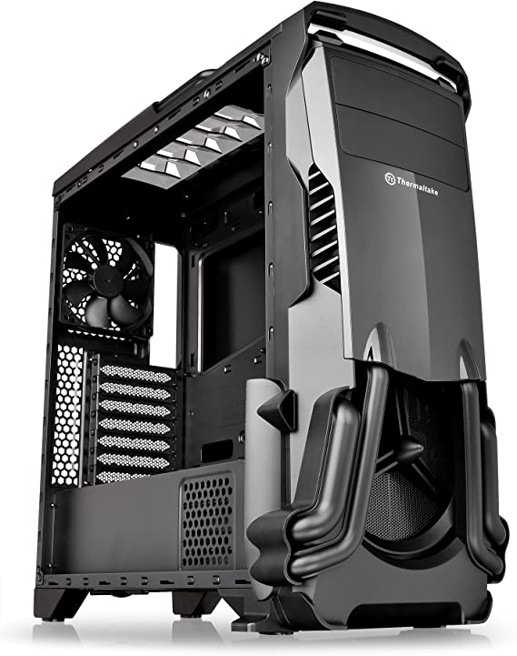 Thermaltake Versa N24 Black ATX Mid Tower Gaming Computer Case Chassis with Power Supply Cover