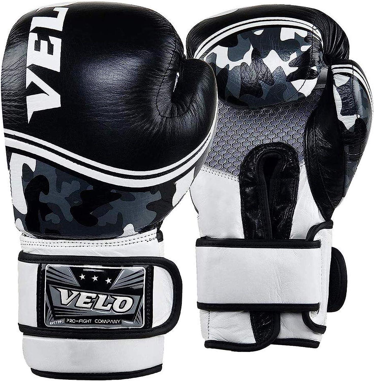VELO Boxing Gloves Bag Training Sparring Punch Muay Thai Fight Kickboxing