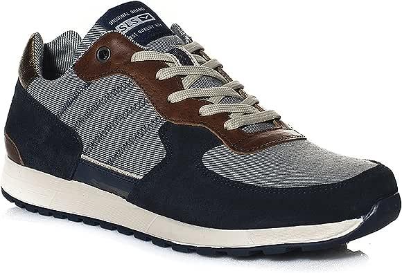 Zapatillas deportivas Sneakers Salsa Jeans Modele Milwaukee azul 40: Amazon.es: Ropa y accesorios