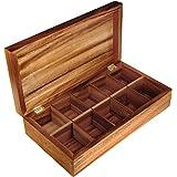 Ironwood Gourmet 28142 Rectangular Tea Box, Acacia Wood