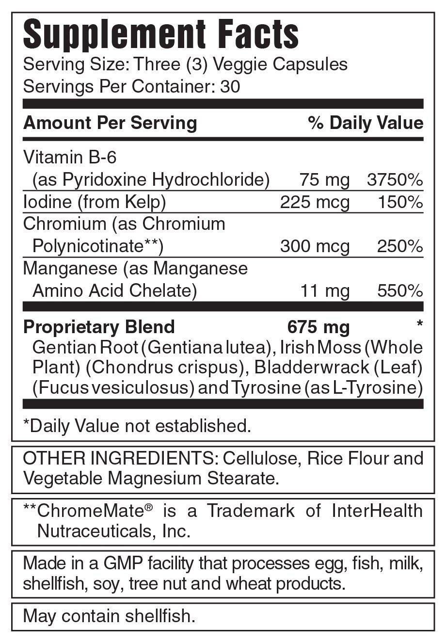 Myotropic Innovations Thyrokinetix - Natural Thyroid Support Supplement, Promotes Metabolism & Energy - Vegetarian, Gluten-Free, Kosher - 90 Vegan Capsules, 30 Servings