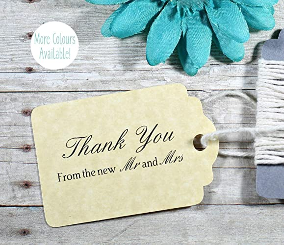 d88c8ed052f4 Amazon.com: Antique Gold Wedding Tags - Thank You From the New Mr ...