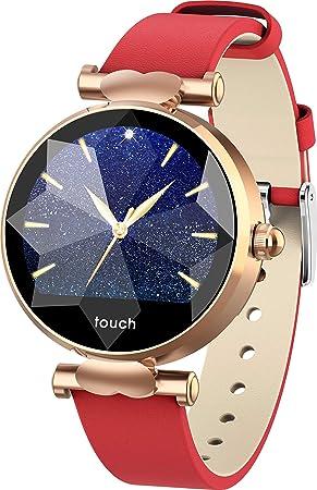 iCoverCase Montre Connectée, Smart Watch pour Femme Fille, Bluetooth Smartwatch IP67 Imperméable Sports Moniteur