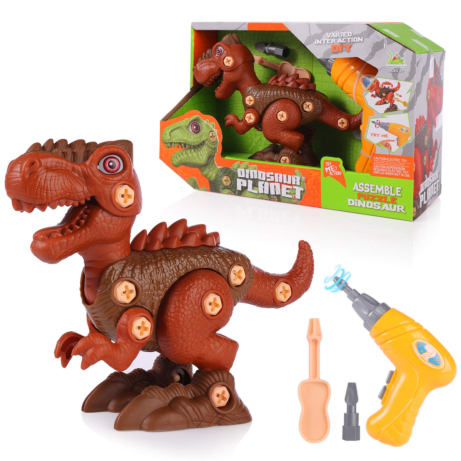 SHANNA Take Apart Dinosaurs Toy for Kids 3-5 5-7 with Electric Drill