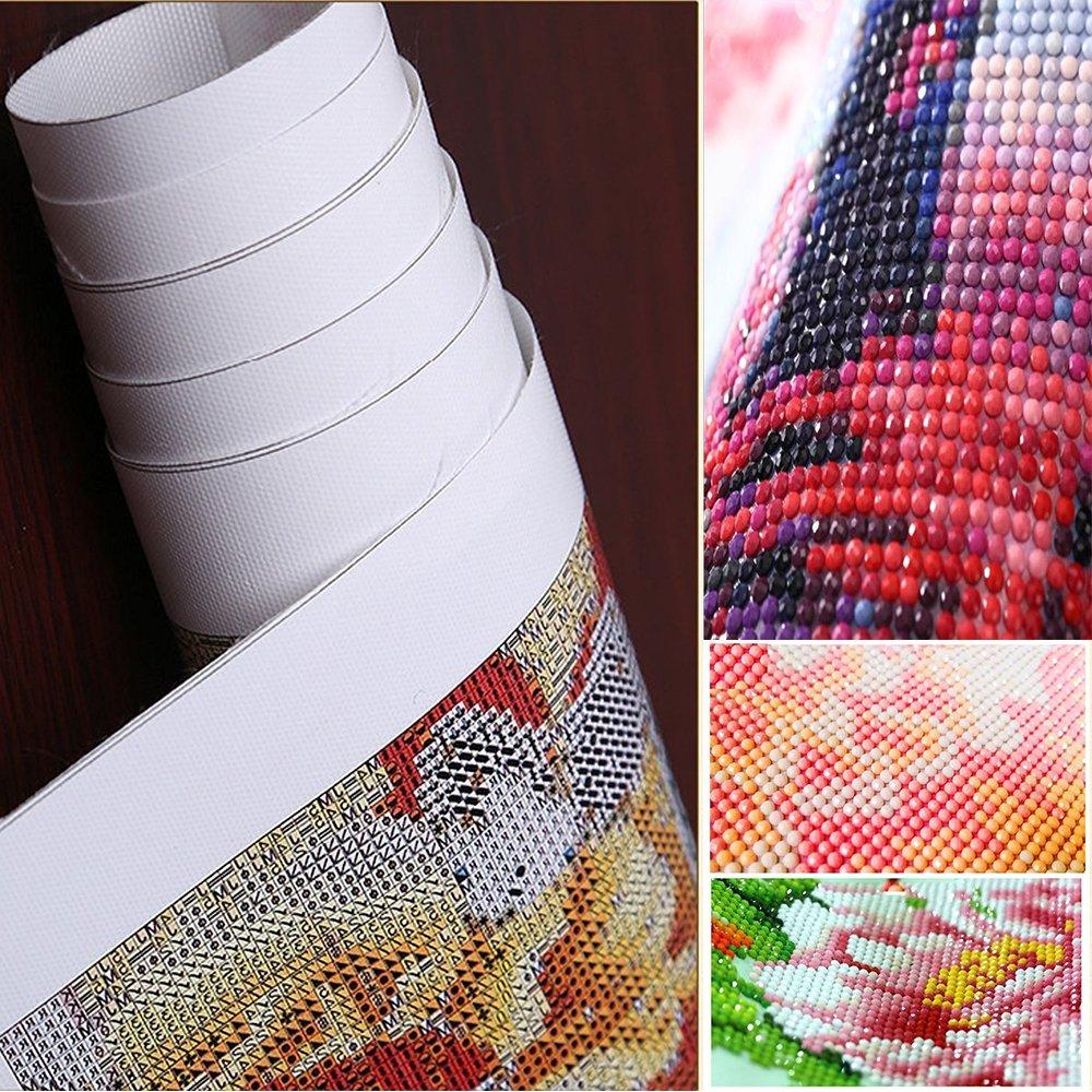 Twuky 5D DIY Full Diamond Cross Stitch Painting,Living Room Decorative Wall Stickers Wallpaper Canoe Lake 14X18inch//35X45CM