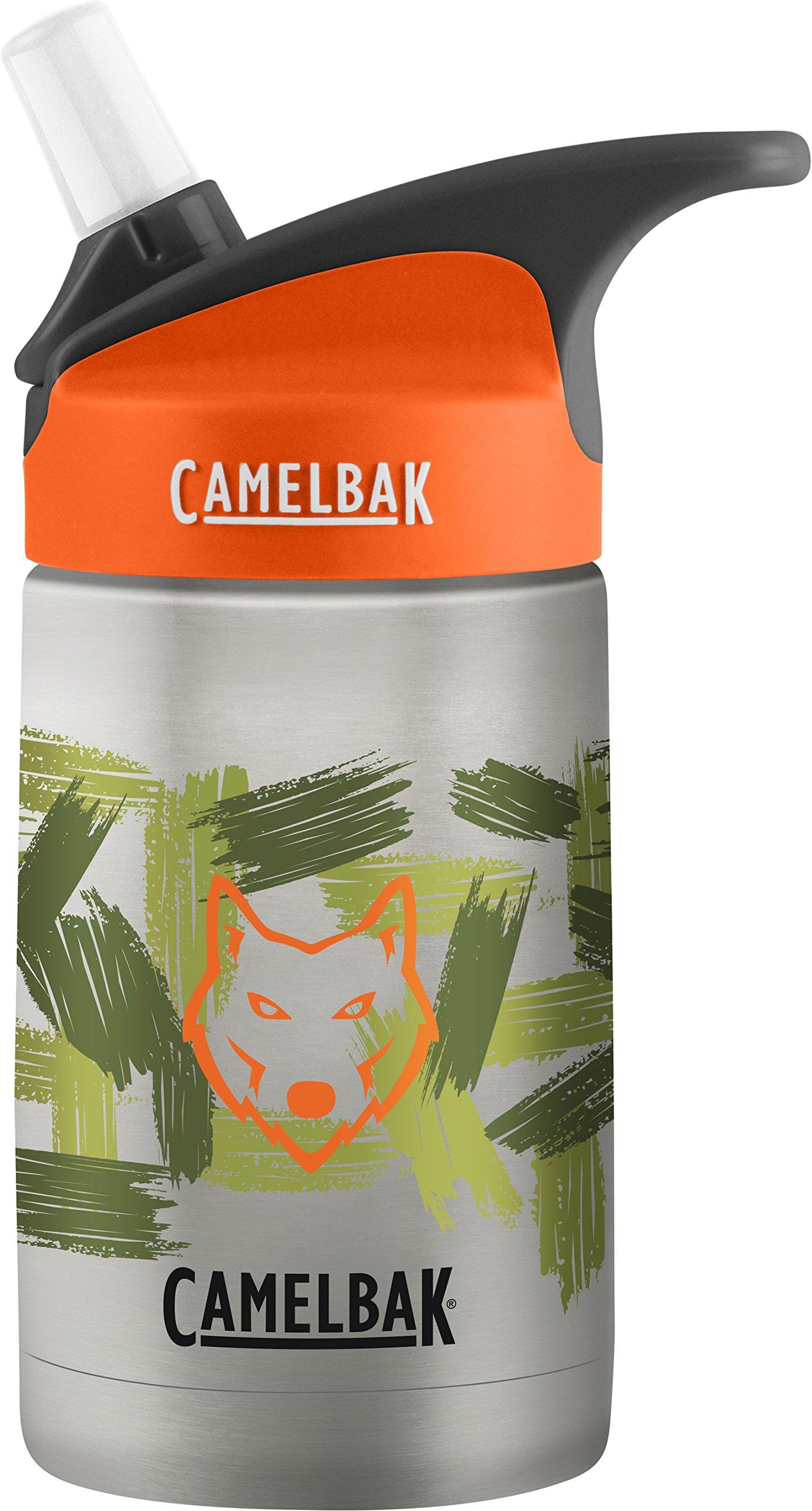 CamelBak Eddy Kids Vacuum Stainless Waterbottle, Wolf Camo, 12 oz