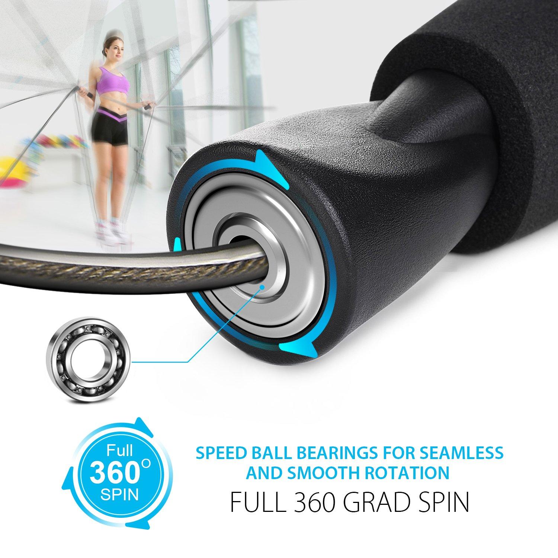 Springseil, Techrise Jump Rope Speed Rope seilspringen mit ...