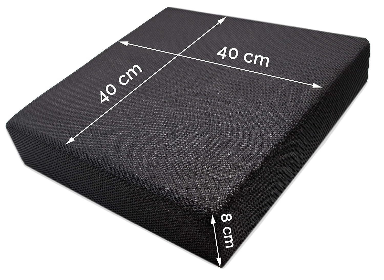 ZOLLNER Cojín antiescaras viscoelástico para Oficina y Coche, 40x40x8 cm