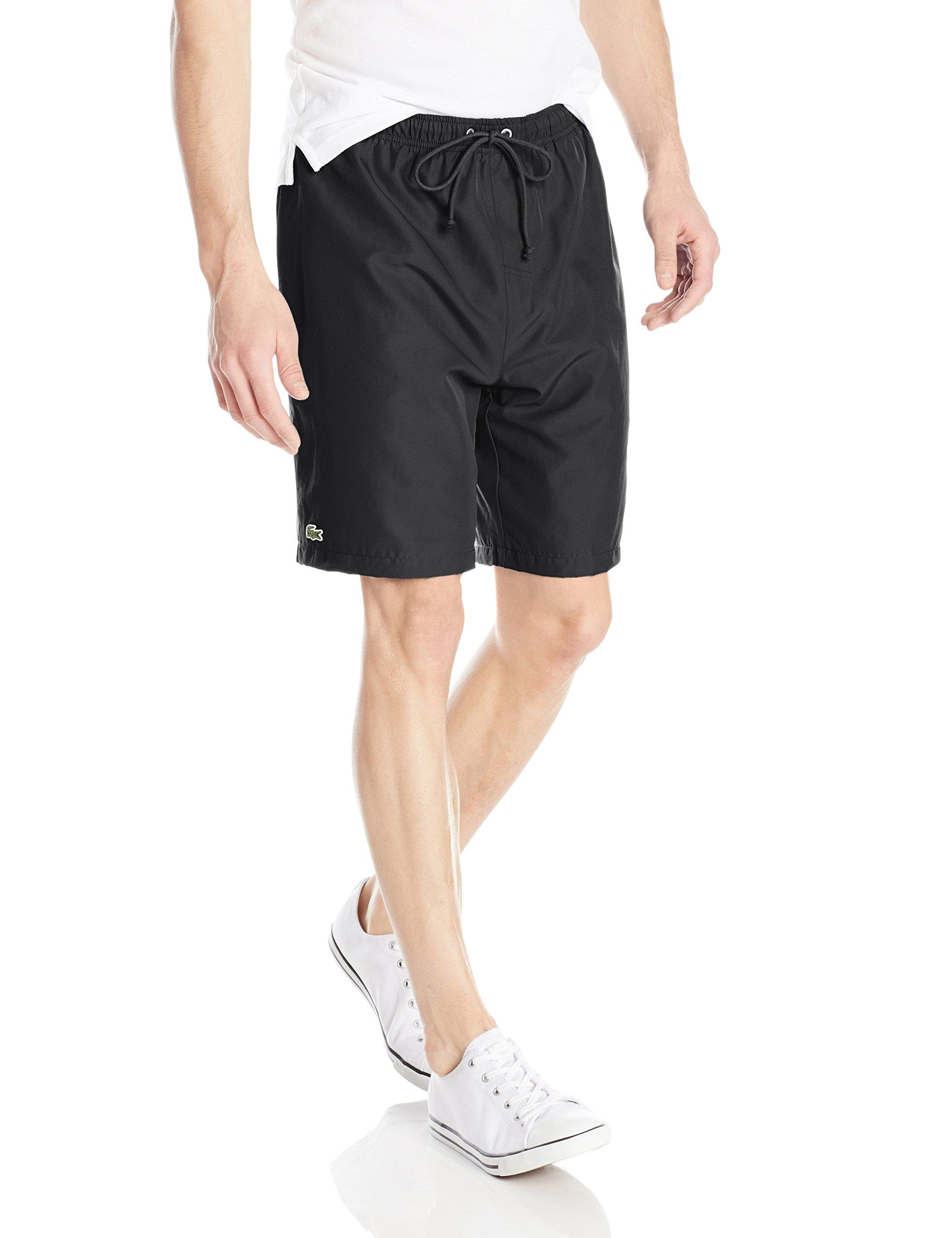 Lacoste Men's Sport Tennis Shorts, Black, Medium