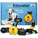 E-Collar - ET-300 - 1/2 Mile Remote Waterproof Trainer Mini Educator Remote Training Collar - 100 Training Levels plus Vibration and Sound - includes PetsTEK Dog Training Clicker