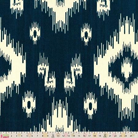 Per Metre Grey Upholstery // Curtain Fabric Ikat