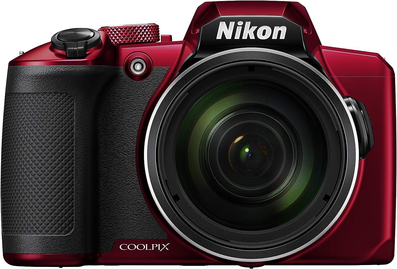 Bluetooth Rouge Nikon Coolpix B600 Appareil Photo Bridge Capteur CMOS en Conditions de Faible luminosit/é Full HD 16 m/égapixels Zoom 60X Wi-FI
