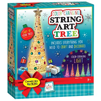 Creativity for Kids – Color Changing String Art Tree – Homemade Holiday Decoration: Toys & Games [5Bkhe0503371]