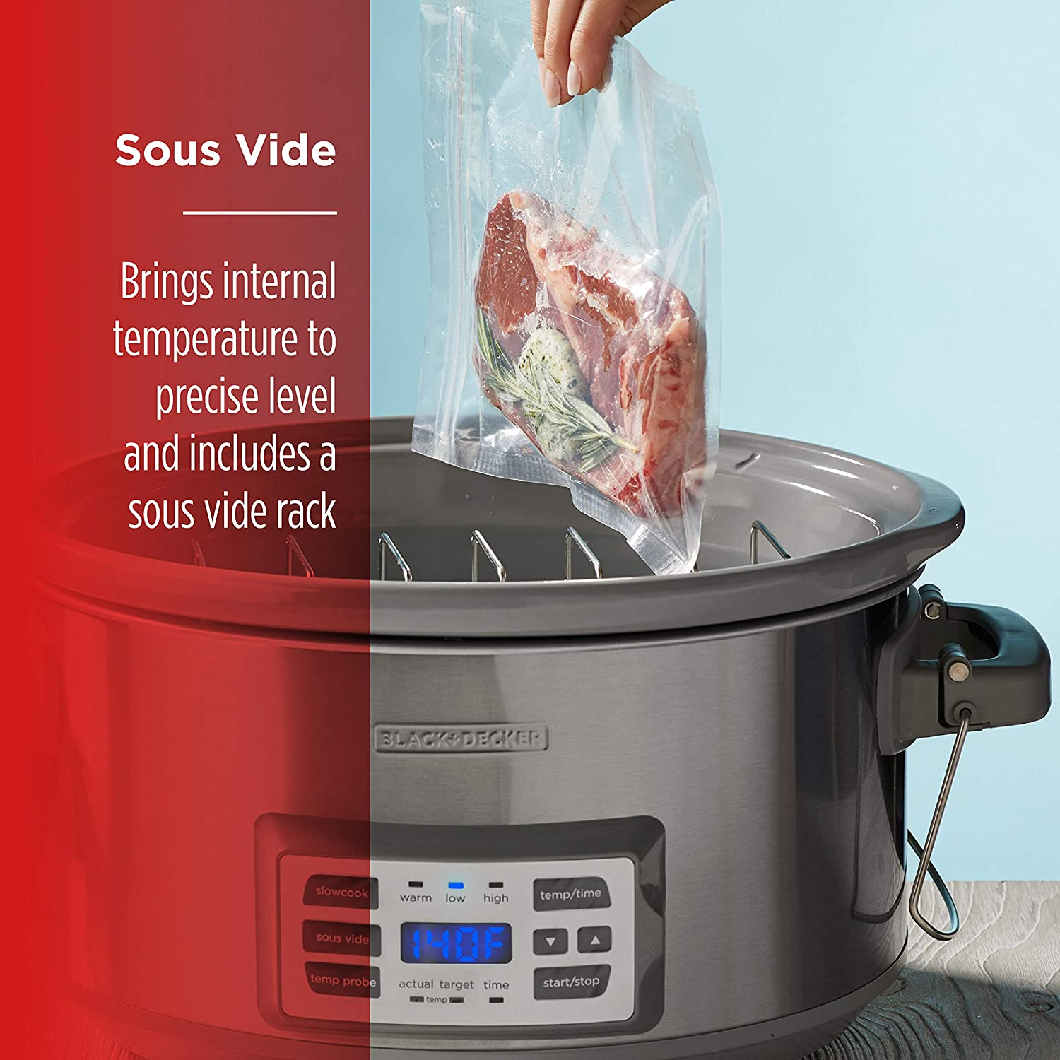 Slow cooker with Sous Vide cooking