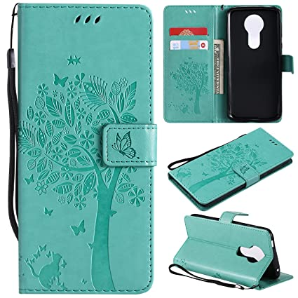 100% authentic 86e95 0cc9b NOMO Moto E5 Plus Case,Moto E5 Supra Wallet Case,Moto E5 Plus Flip Case PU  Leather Emboss Tree Cat Flowers Folio Magnetic Kickstand Cover with Card ...