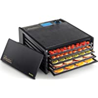 Excalibur 2500ECB 5-Tray Food Dehydrator with Adjustable Thermostat for Temperature Control Patented Technology for Faster and Efficient Drying 8 Square Feet Drying Space Made in USA, 5-Tray, Black