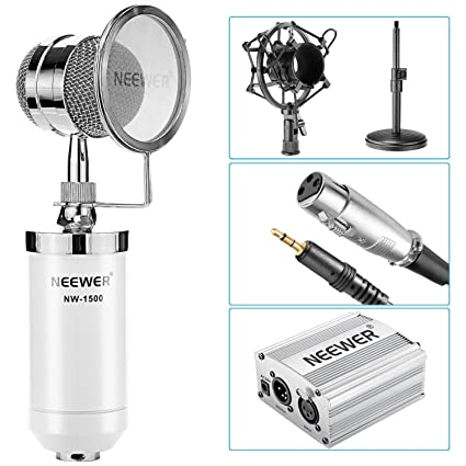 Amazon.com: Neewer NW-1500 Kit de micrófono condensador de ...