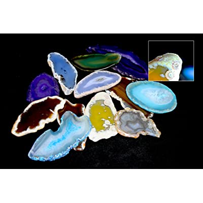 None Agate Light Table Slices - Set of 12: Toys & Games