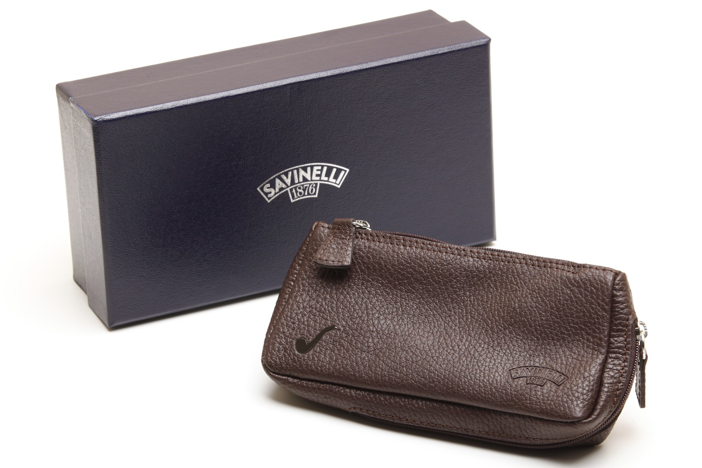 Savinelli One Pipe Pouch - Brown