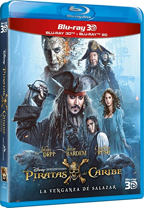 Piratas Del Caribe: La Venganza De Salazar 2D + 3D Blu-ray ...