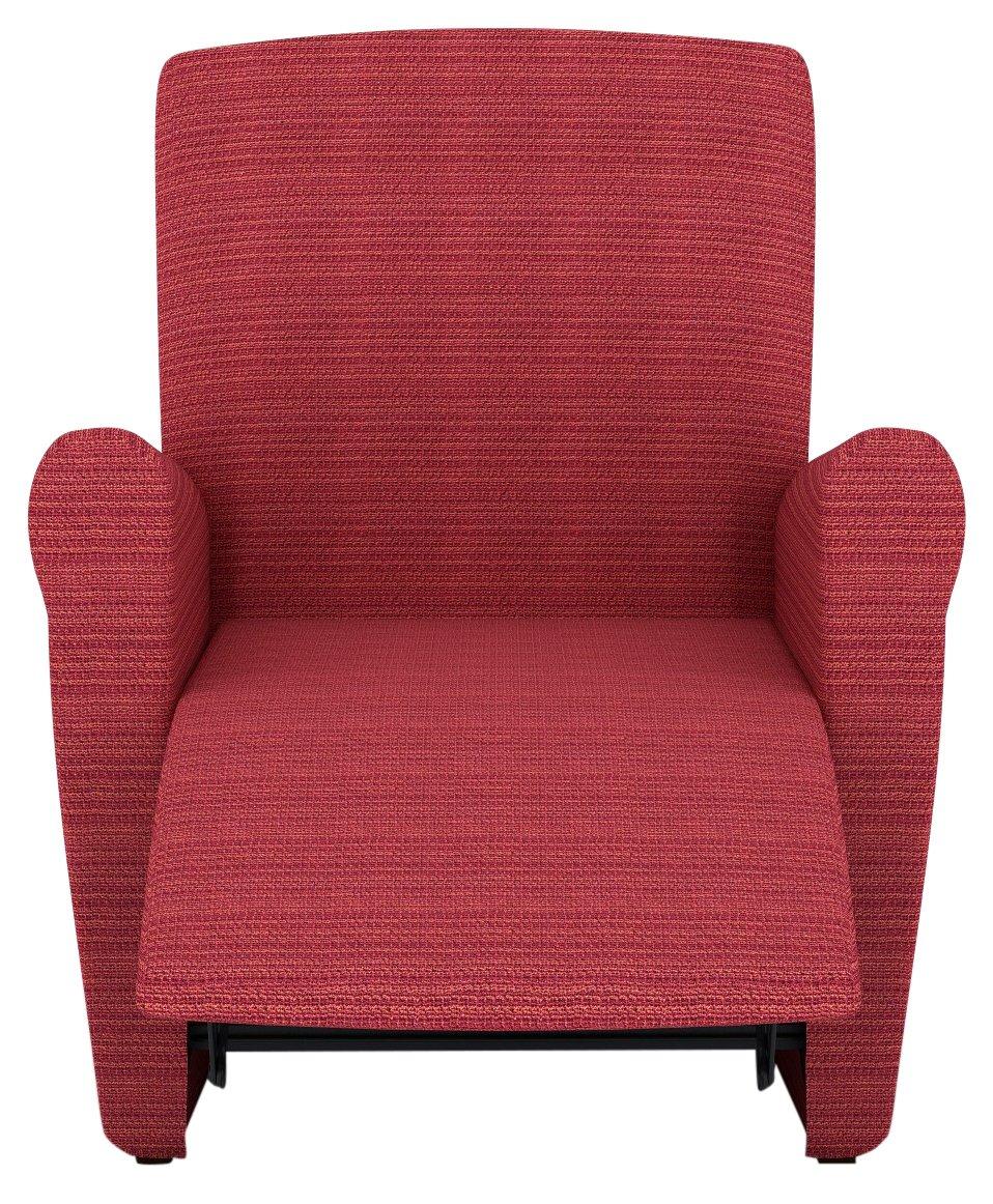 Eiffel Textile Lille Funda sofá sillón, Algodón, Naranja, 55 x 195 x 2 cm