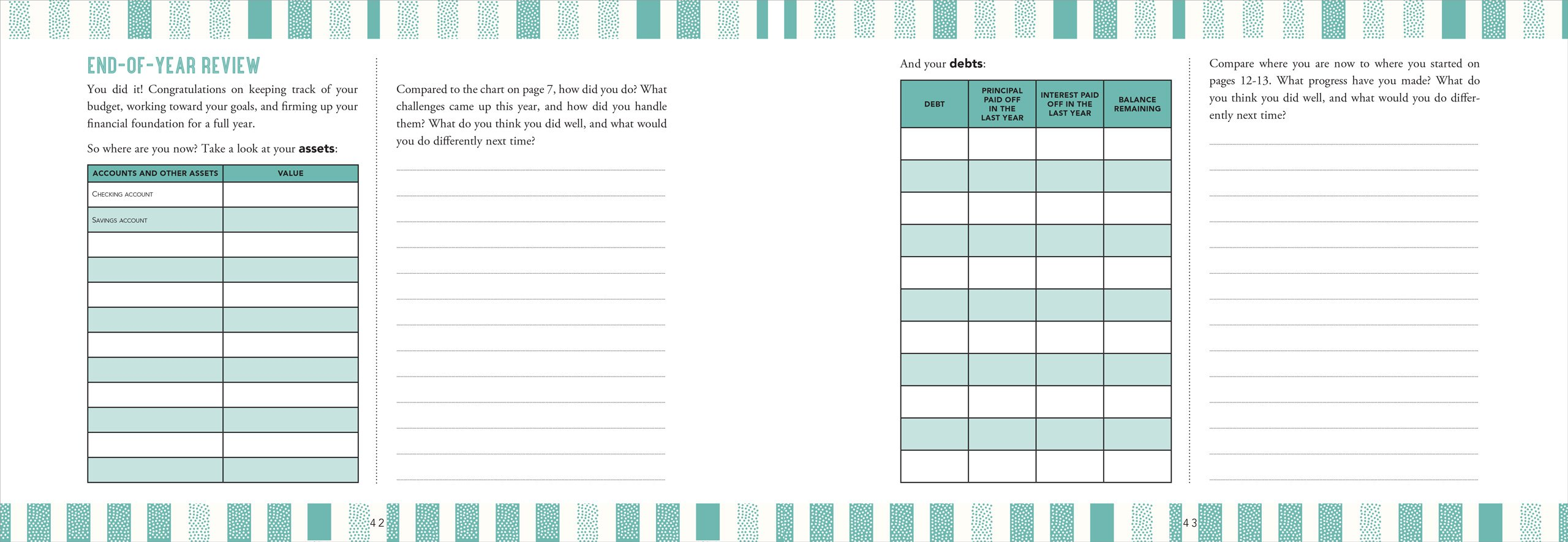 your balanced budget monthly planner kimberly palmer