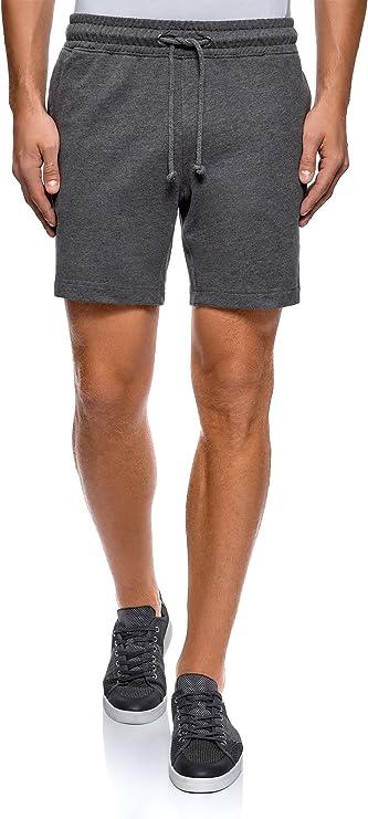 TALLA XS. oodji Ultra Hombre Pantalones Cortos de Algodón con Cordones