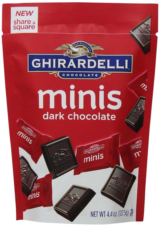 Ghirardelli Minis Pouch, Dark Chocolate, 4.4 oz.