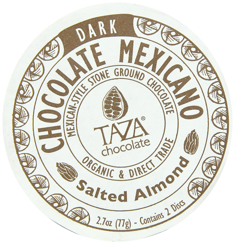Amazon.com : Taza Chocolate Mexicano Chocolate Disc, Salted Almond ...