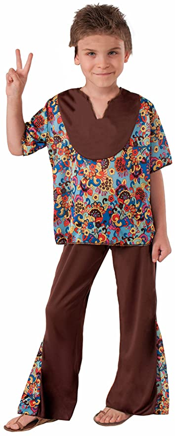 New Vintage Boys Clothing and Costumes Forum Novelties Hippie 60's Style 2-Piece Child Costume Medium $11.98 AT vintagedancer.com