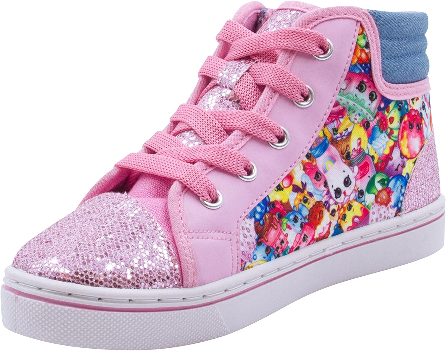 3 1 NWT Shopkins Limited PINK Multi-color Slip On CANVAS Shoes GIRLS size 13