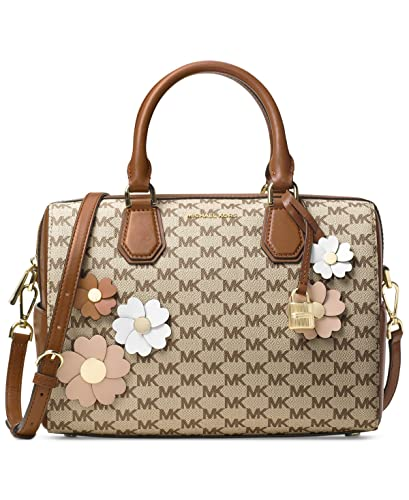 6d2536ef4e3a Amazon.com  MICHAEL Michael Kors Flora Appliqué Mercer Medium Duffel  Signature Bag