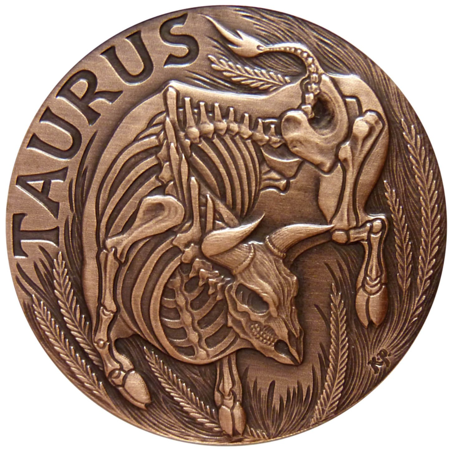 Taurus 1oz Copper Round