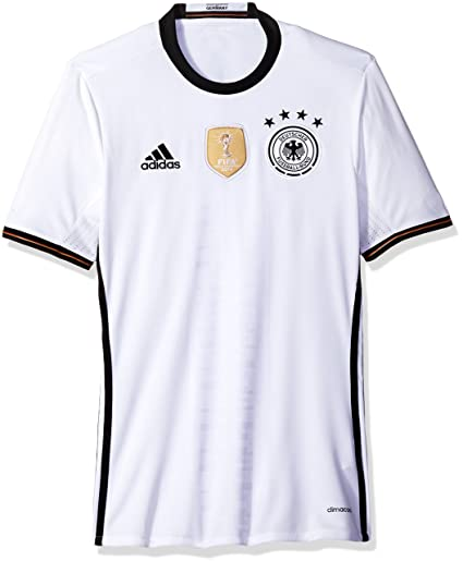 e186a85c03d adidas International Soccer Germany Men's Jersey, 3X-Large, White/Black