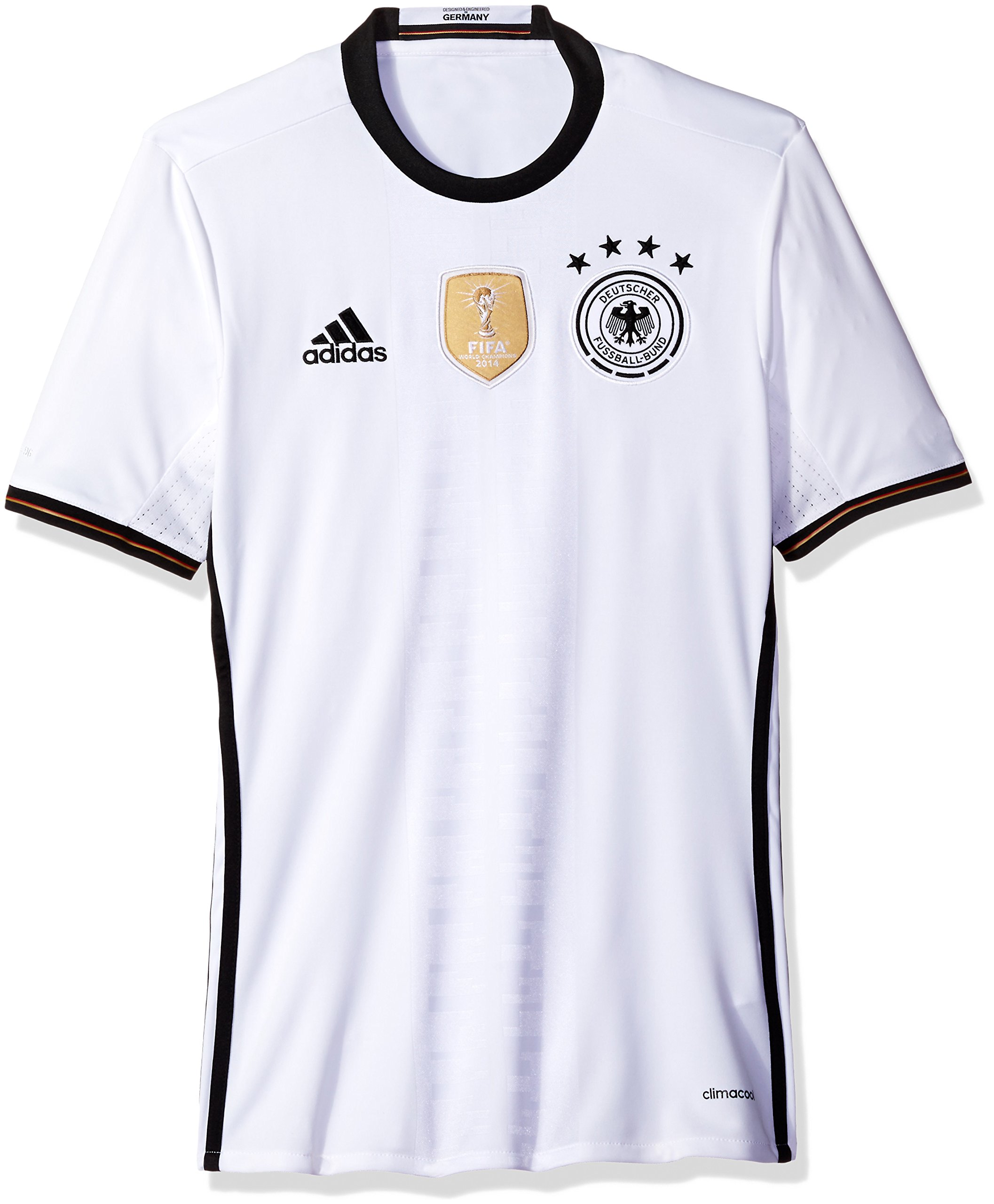 Amazon.com   Adidas Men s Germany 15 16 Home White Black   Sports   Outdoors 0776615e2
