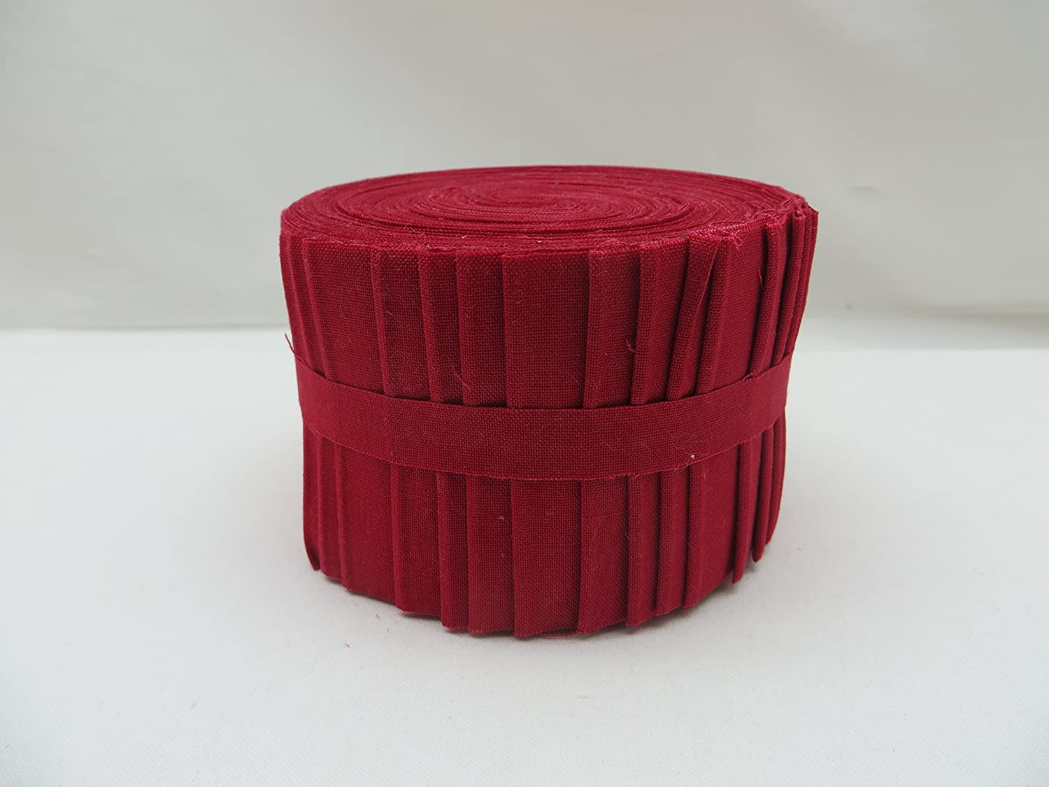 20 Strips Kona Cotton Chinese Red 2.5-inch Pre Cut Quilting Strips Jelly Roll Fabric Robert Kaufman Fabrics