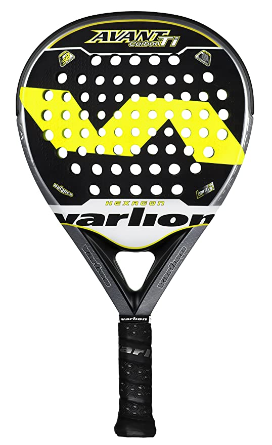 VARLION Avant Hexagon Carbon Ti - Pala de pádel, Color Amarillo ...