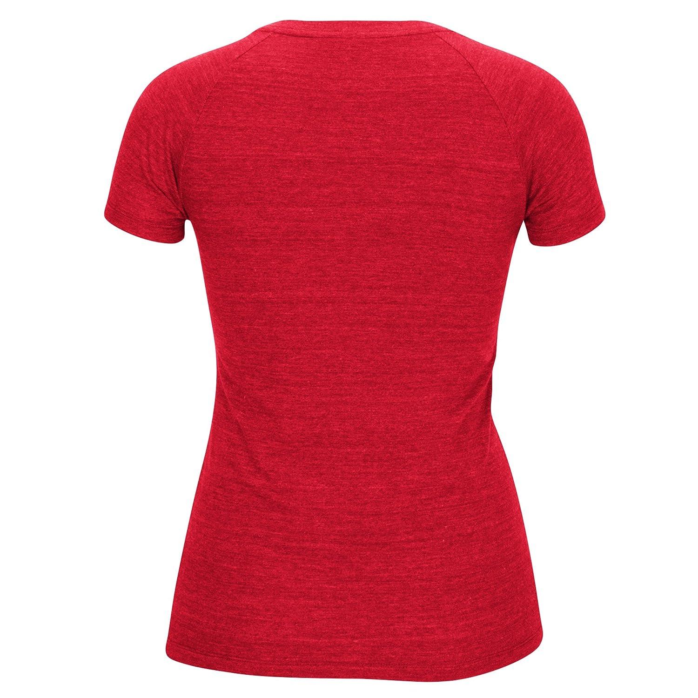 Camiseta para mujer en cuello en V de la NBA con bandas de grano de madera - B366W WBFQ, Rojo: Amazon.es: Deportes y aire libre