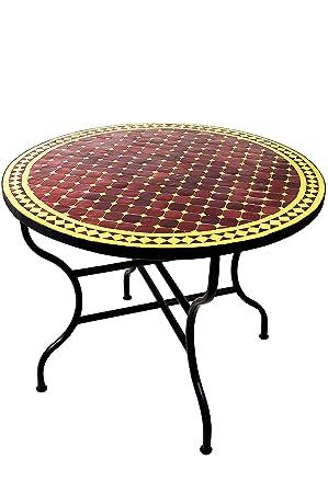 Amazonde Original Marokkanischer Mosaiktisch Gartentisch ø 100cm