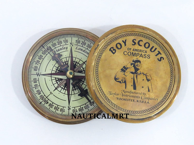 Nautisches Mart Boy Scouts of America Messing antik 7,6 cm Kompass