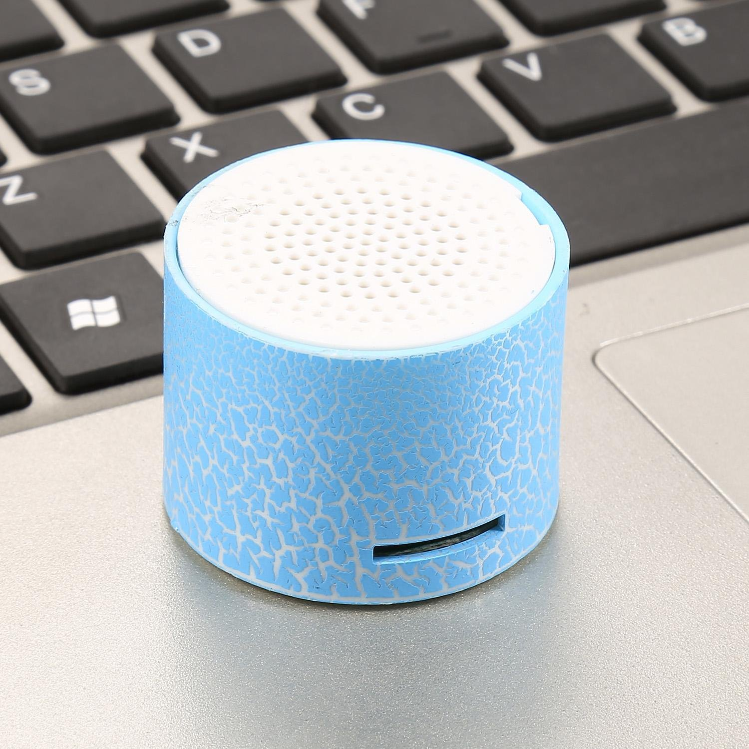ThinIce Wireless Speakers Portable mini Speaker with LED, Support USB and TF Card, Small Speaker for iPod, MP3