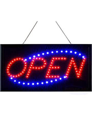 8340941e2 LED Neon Open Sign for Business Displays  Light Up Sign Open with 2  Flashing Modes
