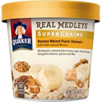 12-Pack Quaker Real Medleys Super Grains Oatmeal+