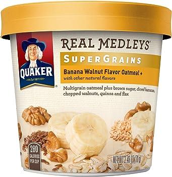12-Pk. Quaker Real Medleys Super Grains Oatmeal+