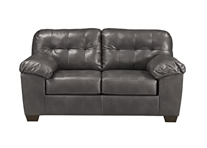 Ashley Furniture Signature Design - Alliston DuraBlend Contemporary  Loveseat - Gray