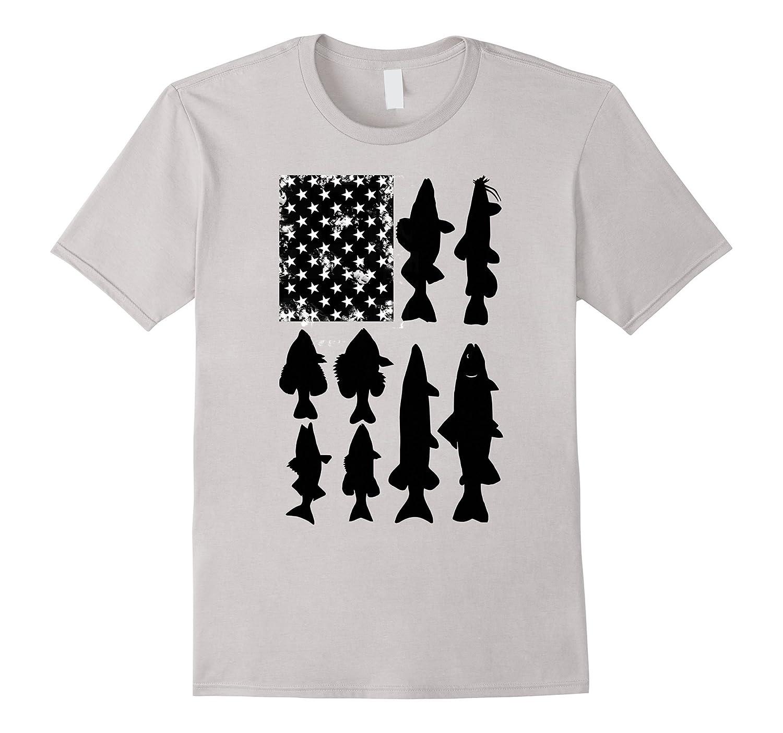 American Flag Fishing Shirt Freshwater Fish-TH